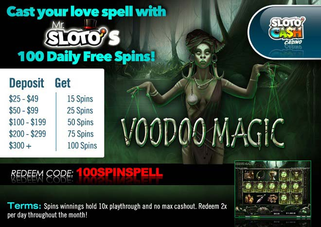 Sloto'Cash Free Spins