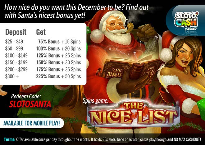 Sloto Santa The Nice List Slot