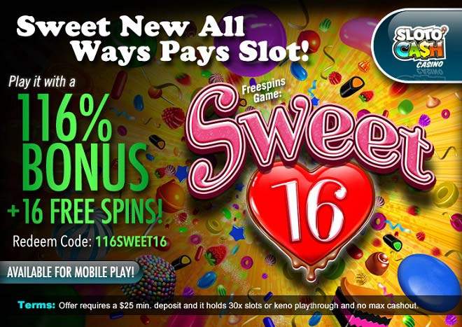 Sweet16 Video Slot Free Spins
