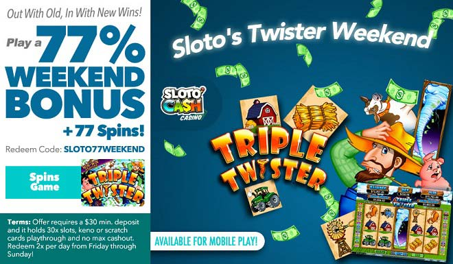 Sloto'Cash Weekend Free Spins