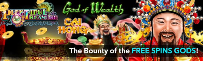 Follow the rainbow to the Bounty of the Free Spins Gods!