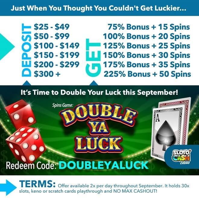 Double Ya'Luck Daily Bonus