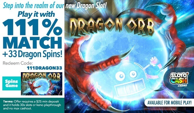 Step into a fantasy realm of wins in Dragon Orb!