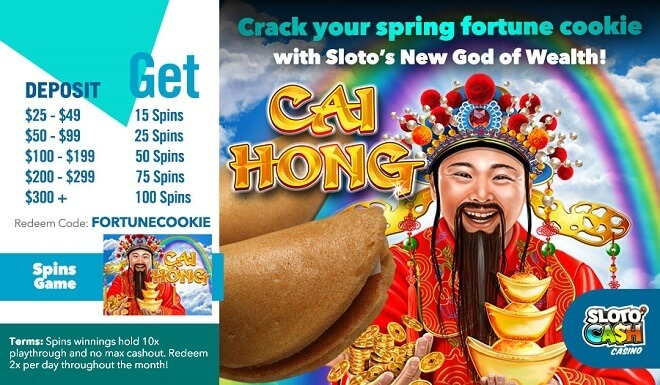 Sloto'Cash Cai Hong Free Spins