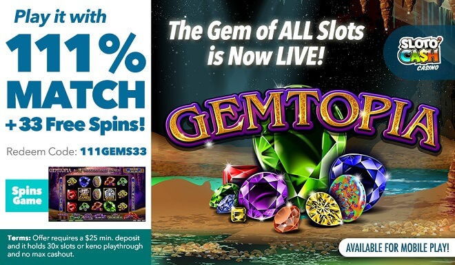 Gemtopia: Play the Gem of All Slots