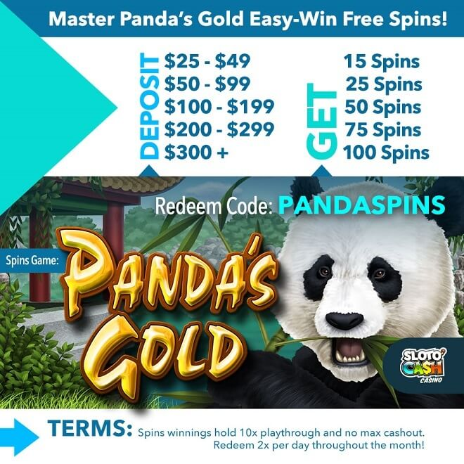 Panda's Gold Free Spins