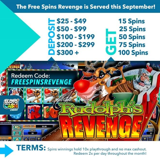 The Free Spins Revenge is Served this September!