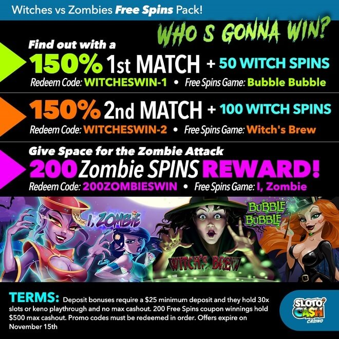 two potent bonuses plus 350 Free Spins!