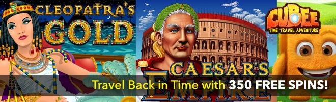 Travel Back in Time with Sloto's 350 Free Spins Pack!